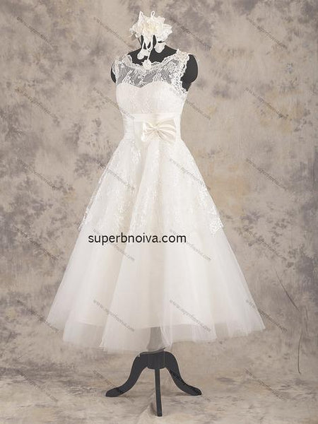 Short Lace/Tulle Real Photo Wedding Dress Reception Bridal Dresses YDW0031