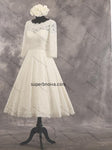 A-line Short Lace Real Photo Wedding Dress Reception Bridal Dresses YDW0033
