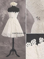 Sweetheart Lace Homecoming Dress Custom Made Short Wedding Dress Fashion Short Prom Dress YDP0165