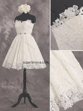 Load image into Gallery viewer, Sweetheart Lace Homecoming Dress Custom Made Short Wedding Dress Fashion Short Prom Dress YDP0165