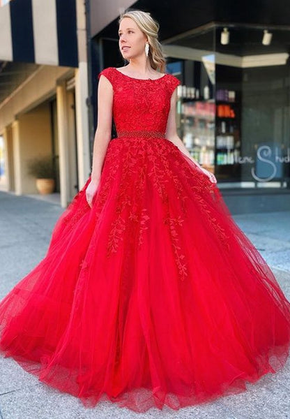 2020 Prom Dresses with Applique and Beading Long Prom Dresses 8th Graduation Dress School Dance Wedding Formal Dress YDP1059