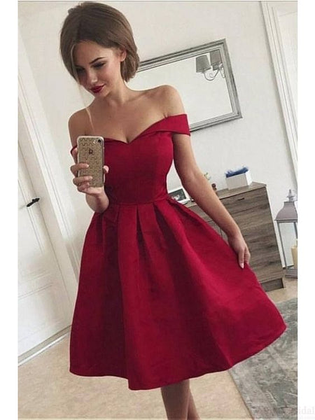 Off the Shoulder Simple Homecoming Dress Custom Made Graduation Dance Dress Fashion Short Prom Dress YDP0258