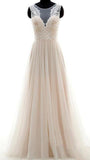 A-line Lace/Chiffon Beach Wedding Dress Fashion Custom Made Bridal Dress YDW0020