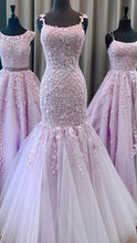Load image into Gallery viewer, 2020 New Long Prom Dresses with Applique and Beading 8th Graduation Dress School Dance Winter Formal Dress YDP0906