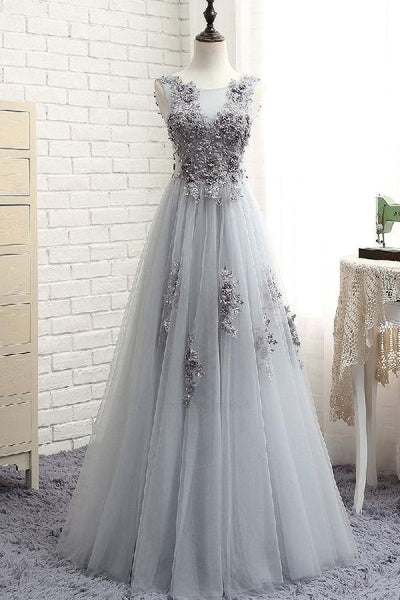 Long Prom Dress With Applique and Beading Custom-made School Dance Dress Fashion Graduation Party Dress YDP0629