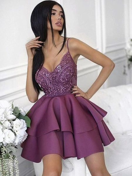 2019 Sexy Homecoming dress ,Short Prom Dress, 8th Graduation Dress ,Custom-made School Dance Dress YDH0046