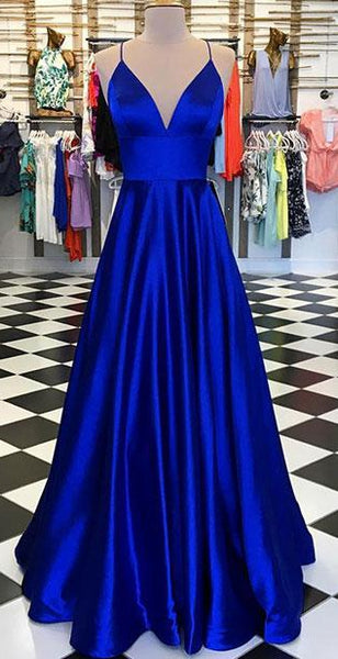 Royal Blue Long Prom Dress Custom-made School Dance Dress Fashion Wedding Formal Dress YDP0636