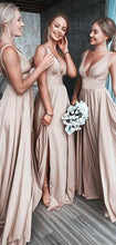 Load image into Gallery viewer, Sexy Long Bridesmaid Dress,Custom Made Wedding Party Dress YDB0060