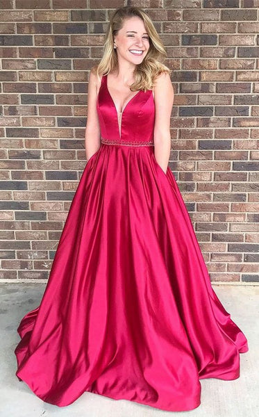 A-line Long Prom Dress School Dance Dress Fashion Winter Formal Dress YDP0262