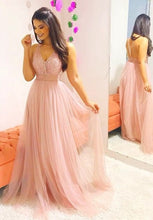 Load image into Gallery viewer, A-line Beaded Long Prom Dresses Custom-made School Dance Dress Fashion Graduation Party Dress YDP0531
