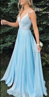 Long Prom Dress With Beading 8th Graduation Dress Custom-made School Dance Dress YDP0701