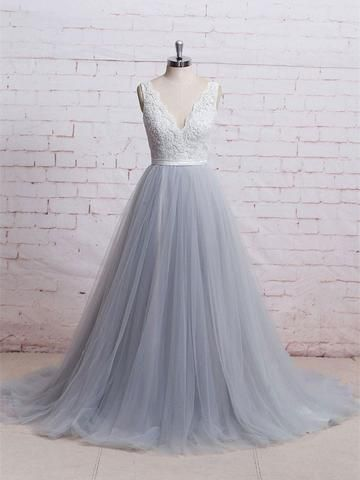 V-neck Ball Gown Long Prom Dress Custom-made School Dance Dress Fashion Graduation Party Dress YDP0595
