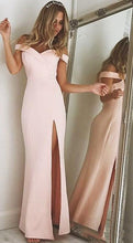 Load image into Gallery viewer, Off Shoulder Prom Dress With Slit Long 8th Graduation Dress Custom-made School Dance Dress  YDP0670