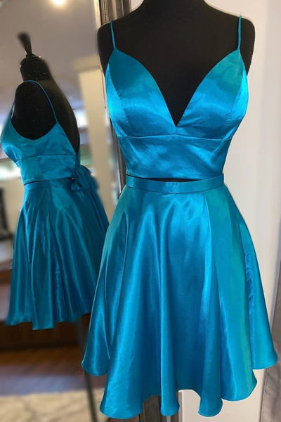 2 Pieces Simple Short Homecoming dress ,Short Prom Dress, 8th Graduation Dress ,Custom-made School Dance Dress YDH0084