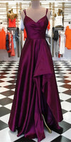 Simple High-Low Long Prom Dress School Dance Dress Fashion Winter Formal Dress YDP0391