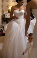 Strapless Ball Gown Wedding Dress,Fashion Ball Gown Bridal Dresses, Custom Made Wedding dress YDW0034