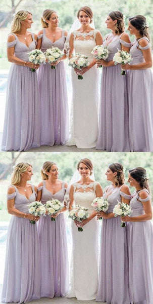 Off Shoulder Long Bridesmaid Dress,Custom Made Future Wedding Formal Dress YDB0068