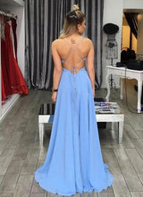 Load image into Gallery viewer, Unique A-line Long Prom Dress Fashion Wedding Party Dress YDP0021
