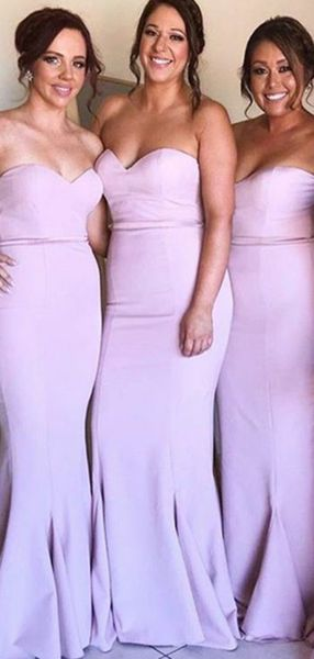 Strapless Long Bridesmaid Dress,Custom Made Wedding Party Dress YDB0038