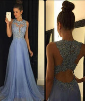 Popular A-line Appliqued Long Prom Dress Fashion Wedding Party Dress YDP0015
