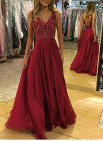 Backless Beaded A-line Long Prom Dress Custom Made Party Dress Fashion School Dance Dress YDP0065