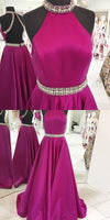 Halter Neck Backless Long Prom Dresses Custom-made School Dance Dress Fashion Graduation Party Dress YDP0530