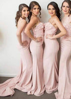 Fashion Mermaid Long Bridesmaid Dress Custom Made Wedding Party Dress YDB0019