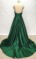 Backless Long Prom Dress V-neck Custom-made School Dance Dress Fashion Wedding Party Dress YDP0604