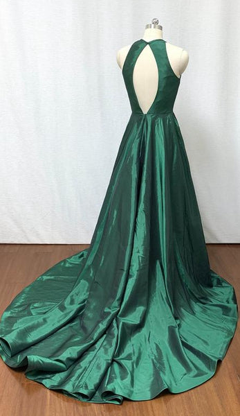 Open Back Long Prom Dress A-line Custom-made School Dance Dress Fashion Wedding Party Dress YDP0605