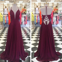 Load image into Gallery viewer, Unique A-line Long Prom Dress Custom Made Formal Dress Fashion Winter Dance Dress YDP0164