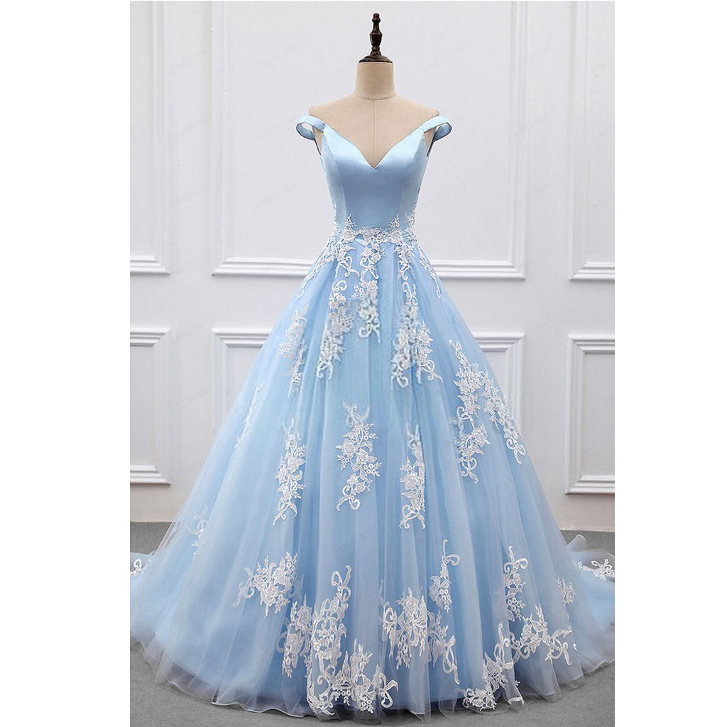 Off Shoulder Long Prom Dress 8th Graduation Dress Custom-made Wedding Party Dress YDP0762