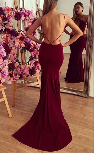Sexy Burgundy Mermaid Long Prom Dress School Dance Dress Fashion Winter Formal Dress YDP0234