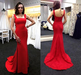 Simple Mermaid Long Prom Dress School Dance Dress Fashion Winter Formal Dress YDP0316