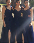 Fashion Long Bridesmaid Dress,Custom Made Wedding Party Dress YDB0045