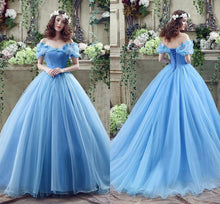Load image into Gallery viewer, Off The Shoulder Princess Ball Gown Long Prom Dress  School Dance Dress Fashion Winter Formal Dress YDP0245