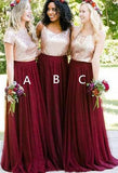 Fashion Long Bridesmaid Dress,Custom Made Wedding Party Dress YDB0051
