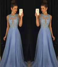 Load image into Gallery viewer, Popular A-line Appliqued Long Prom Dress Fashion Wedding Party Dress YDP0015
