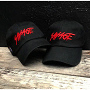 Black & Red Cotton Savage Hat