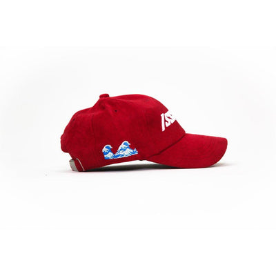Red Issa Vibe Suede Cap