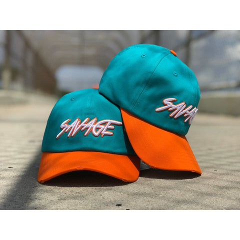 Aqua & Orange Savage Hat
