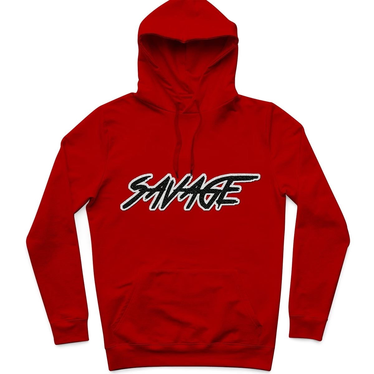 Fire Red Savage Pull-Over Hoodie