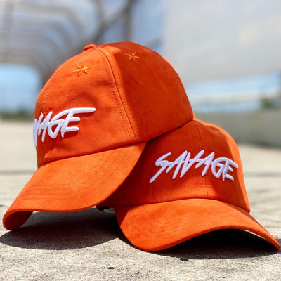 Orange Suede Savage Hat