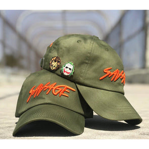 Olive & Orange Cotton Savage Hat