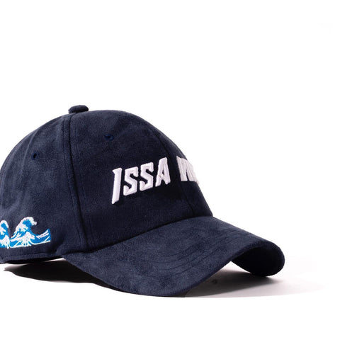 Navy Blue Issa Vibe Suede Cap