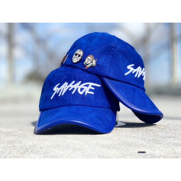 Royal Blue Suede Savage Hat