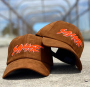 Wheat & Orange Suede Savage Hat