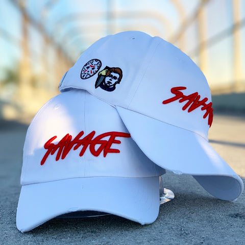 White and Red Savage Hat