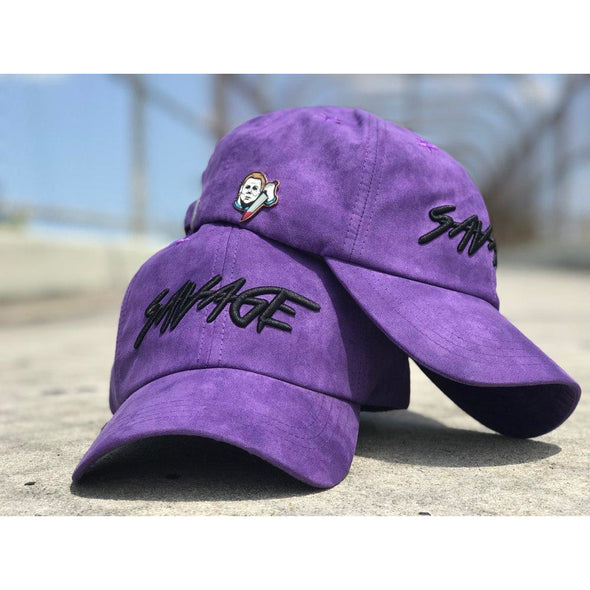 Purple & Black Suede Savage