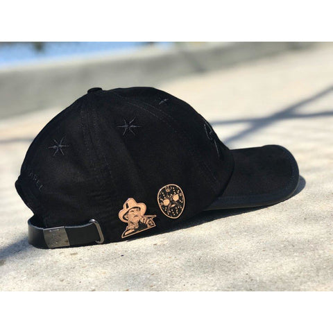 Black on Black Suede Savage Hat