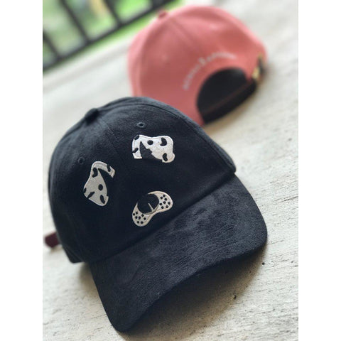 Black Suede Dog Hat
